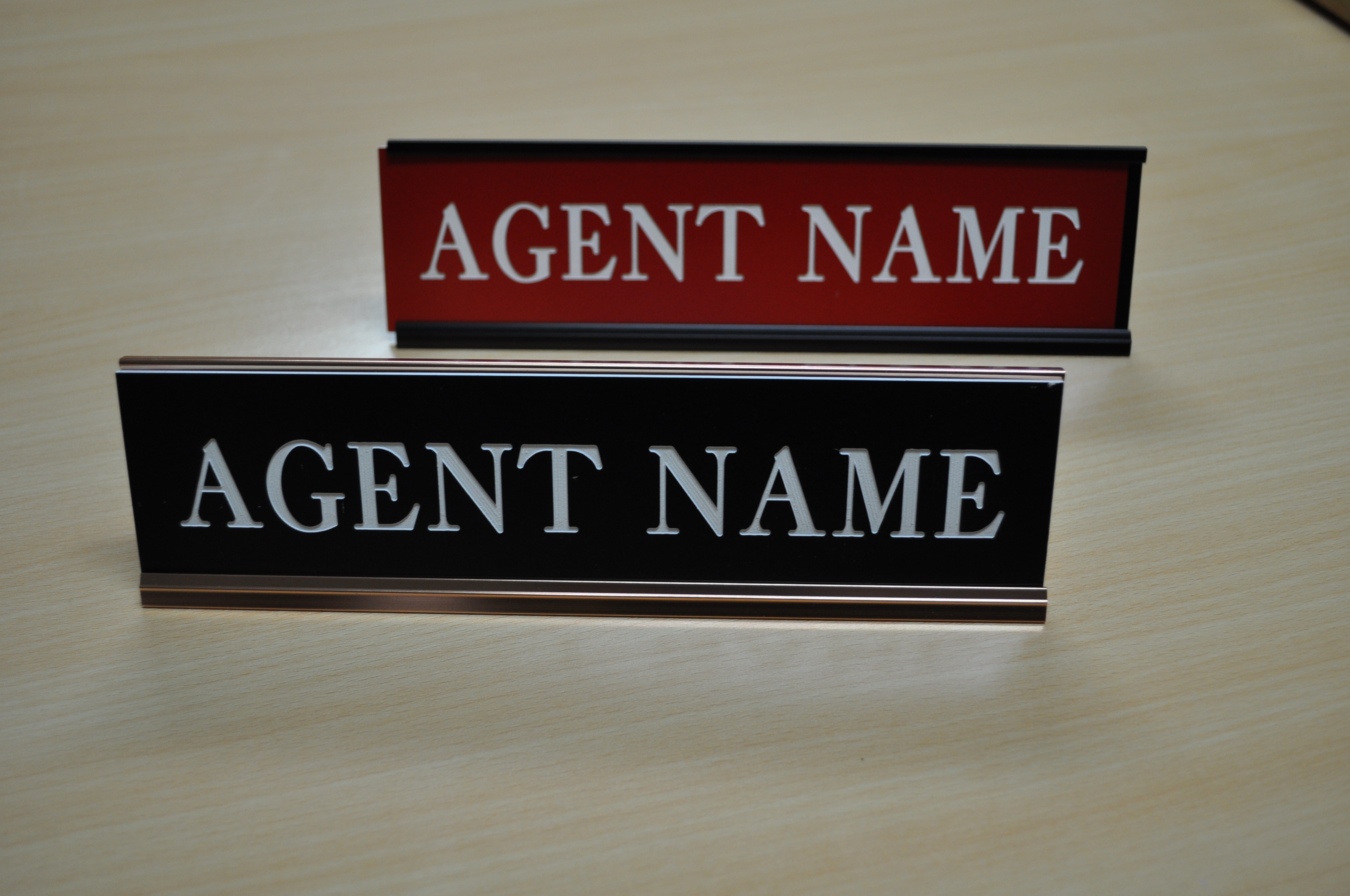Name Plate: - NAME PLATE WITH DESK HOLDER (2x10) #NP0011