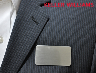 KW logo on  satin nickle silver