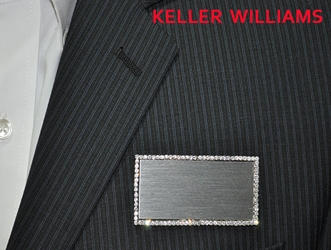 KW logo on  silver bling rectangle
