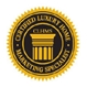 Certified Luxury Home Marketing Specialist / black gold seal