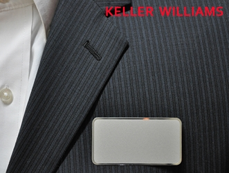 KW logo on frosted silver Rectangle